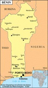 La carte du Bénin